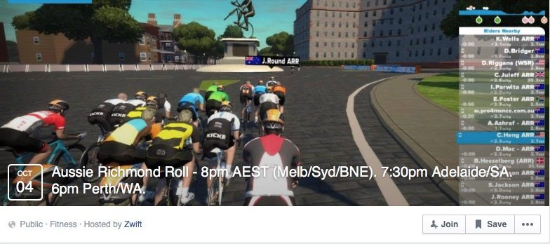 Zwift Rides and Races